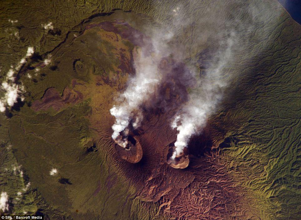 volcano desde el cielo