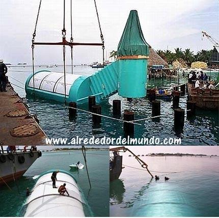 estructura del restaurante submarino