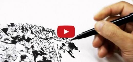 Impresionante arte con un bolígrafo