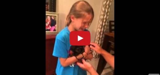 Este es el mejor regalo que la pueden hacer a esta niña: ¡Un perrito!